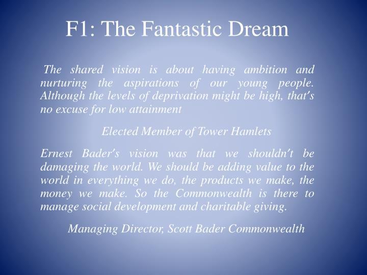 F1: The Fantastic Dream