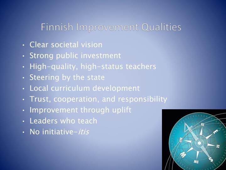 Finnish Improvement Qualities