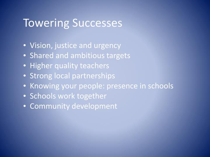 Towering Successes