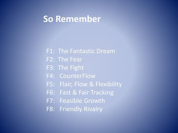 So Remember