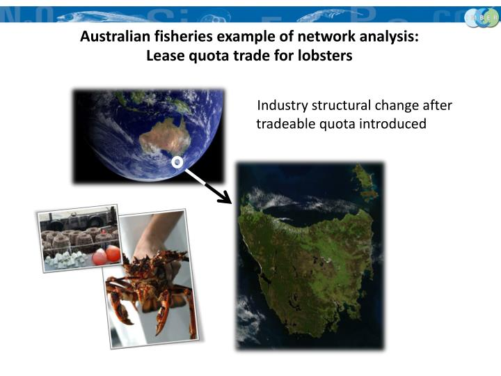 Australian fisheries example of network analysis: