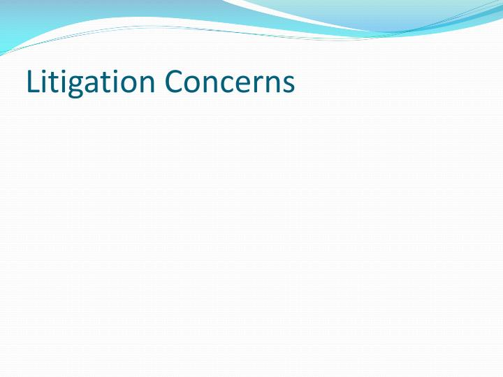 Litigation Concerns