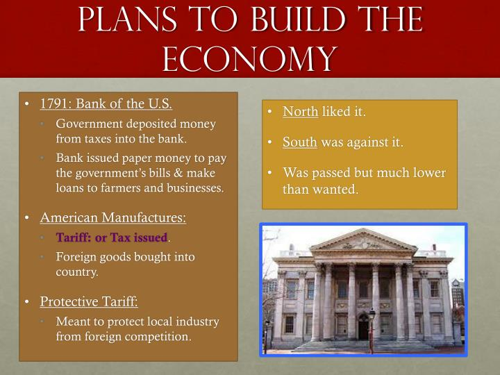Plans to build the economy