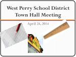 west perry school district town hall meeting