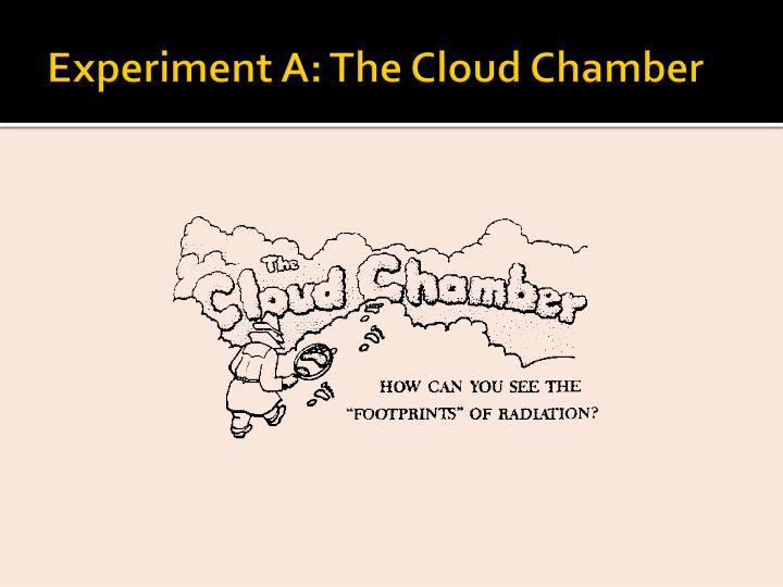 Experiment A: The Cloud Chamber