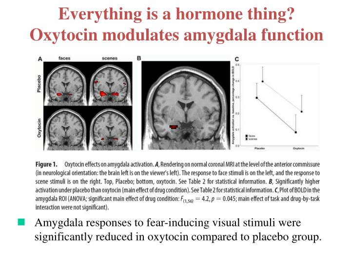 Everything is a hormone thing?