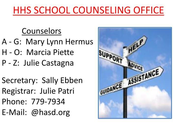 HHS SCHOOL COUNSELING OFFICE