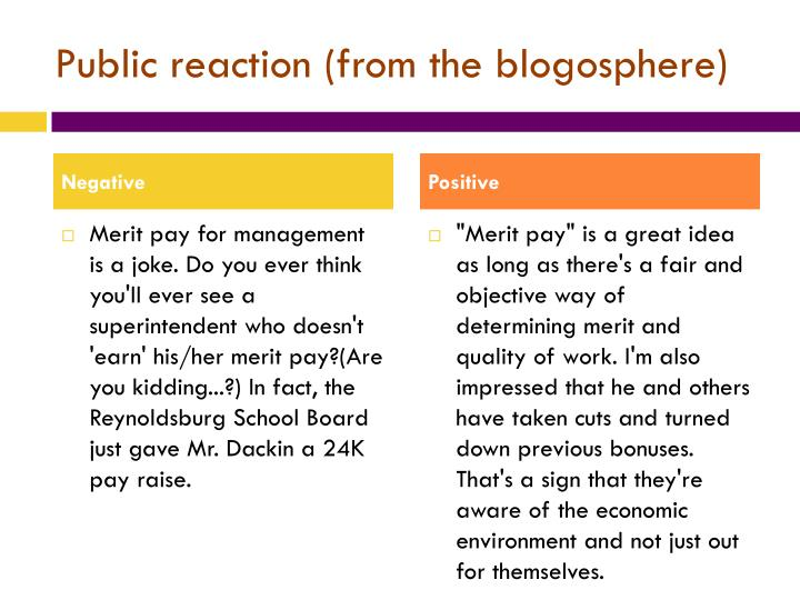 Public reaction (from the blogosphere)