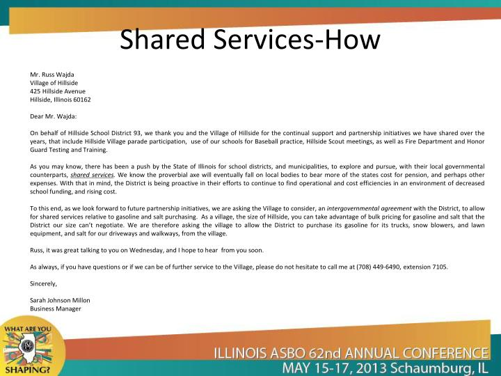 Shared Services-How
