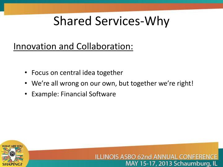 Shared Services-Why