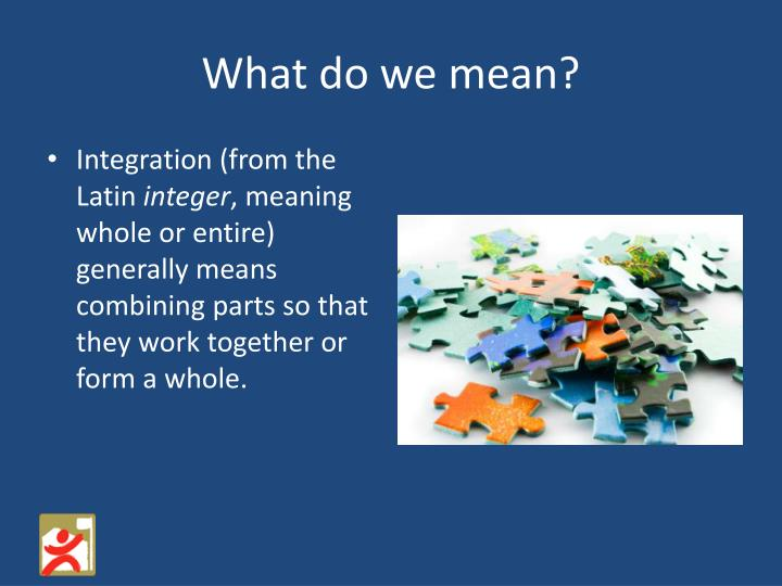 What do we mean?