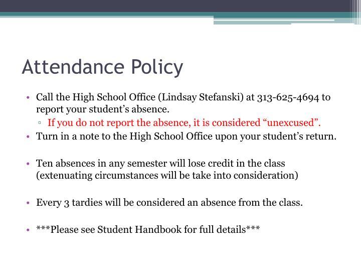 argumentative essay attendance policy 2nd draft