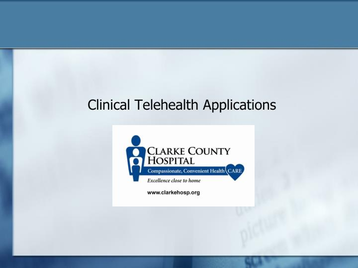enhancing local health through the use of telehealth in rural communities Not every rural community needs to have a critical access hospital (cah)   benefit for certain high-risk patients and would allow the use of telemedicine and   to gather examples of effective state and local efforts to improve rural health.