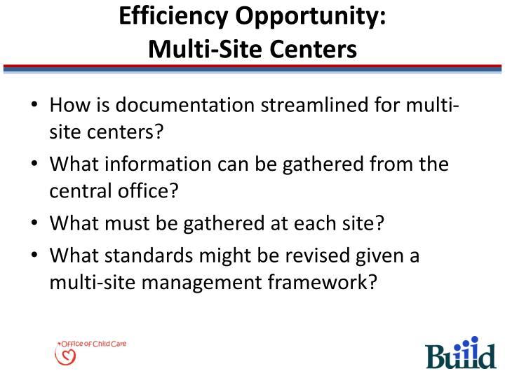 Efficiency Opportunity: