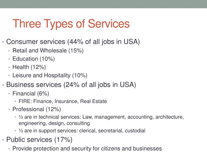 Three types of services