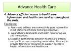 advance health care