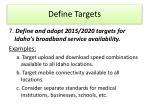 define targets