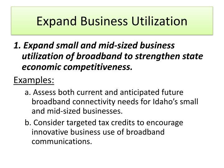 Expand Business Utilization
