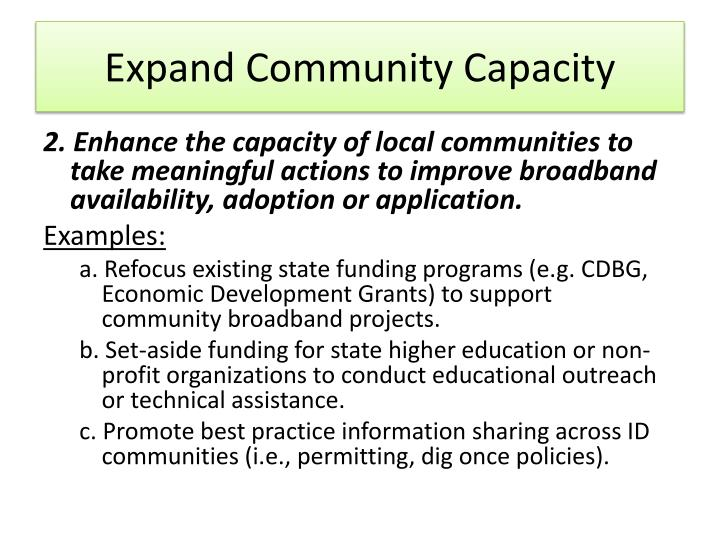 Expand Community Capacity