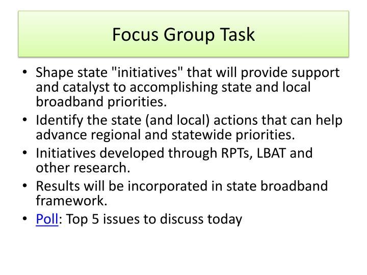 Focus Group Task