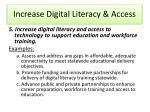 increase digital literacy access