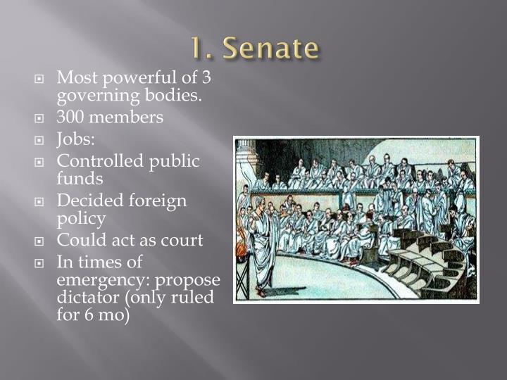 1. Senate