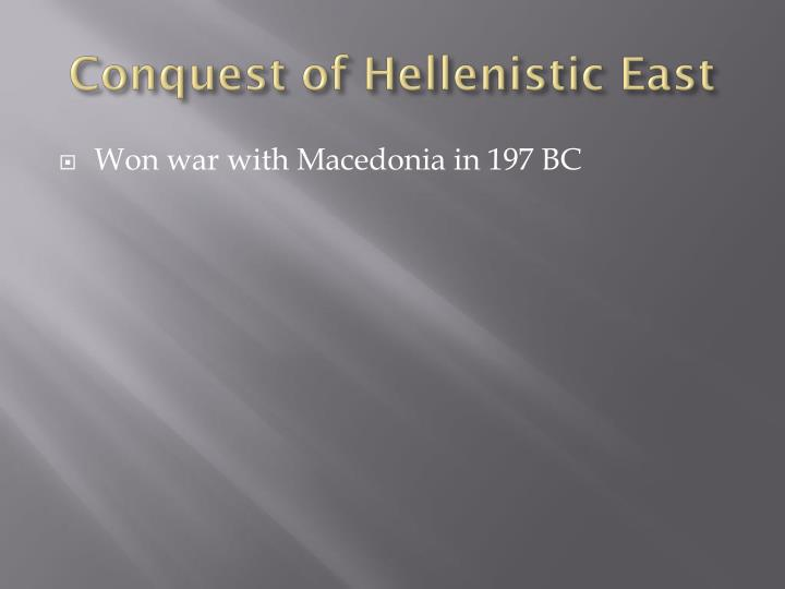 Conquest of Hellenistic East