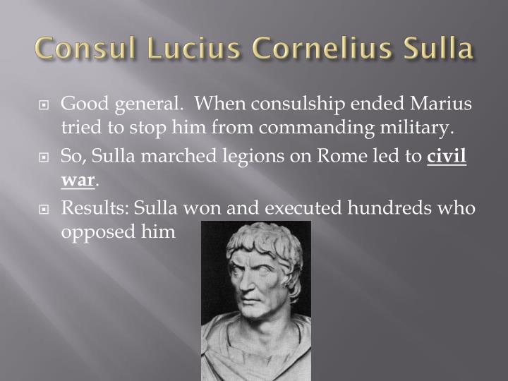 Consul Lucius Cornelius Sulla