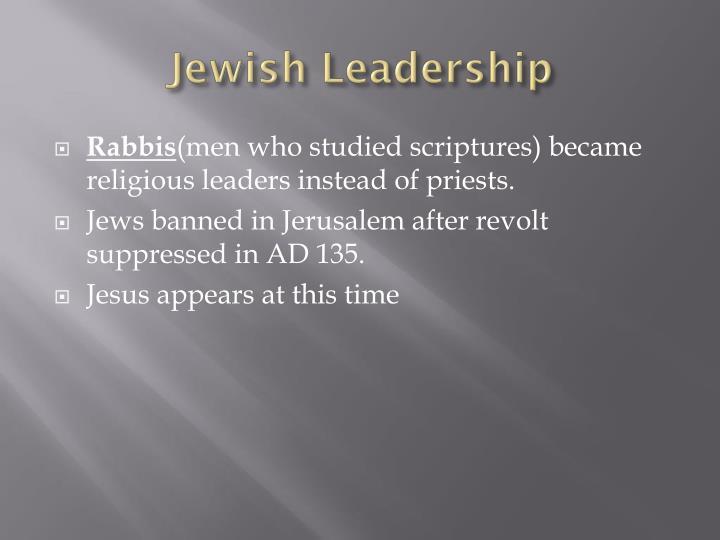 Jewish Leadership