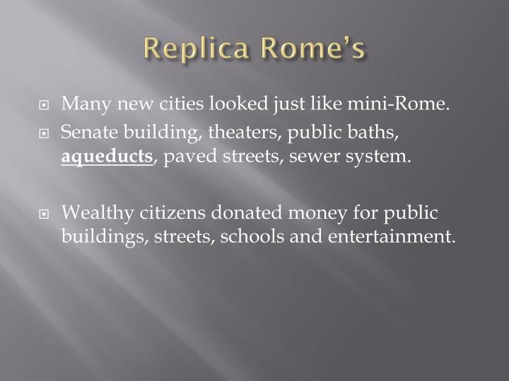 Replica Rome's