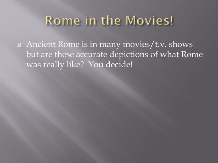 Rome in the Movies!