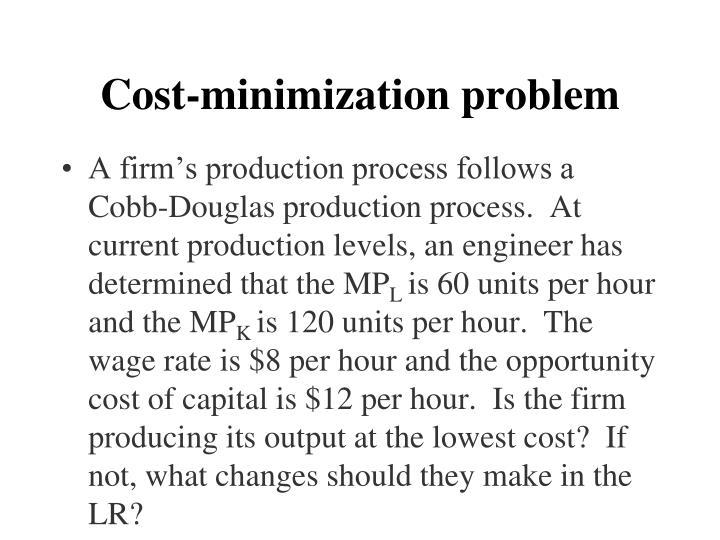 Cost-minimization problem