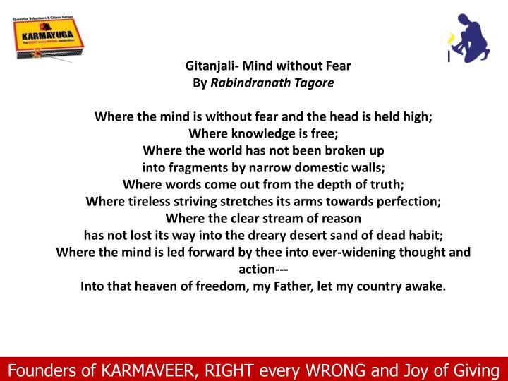 Gitanjali- Mind without Fear