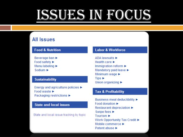 Issues In Focus