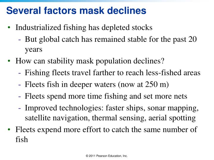 Several factors mask declines