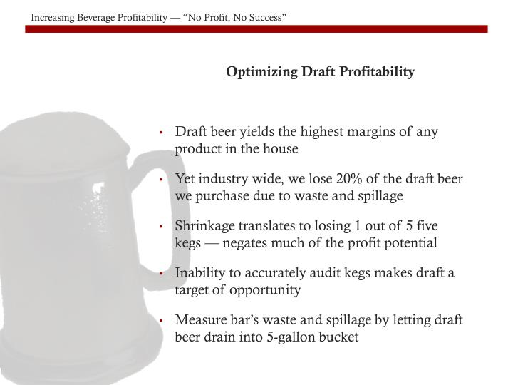 Optimizing Draft Profitability