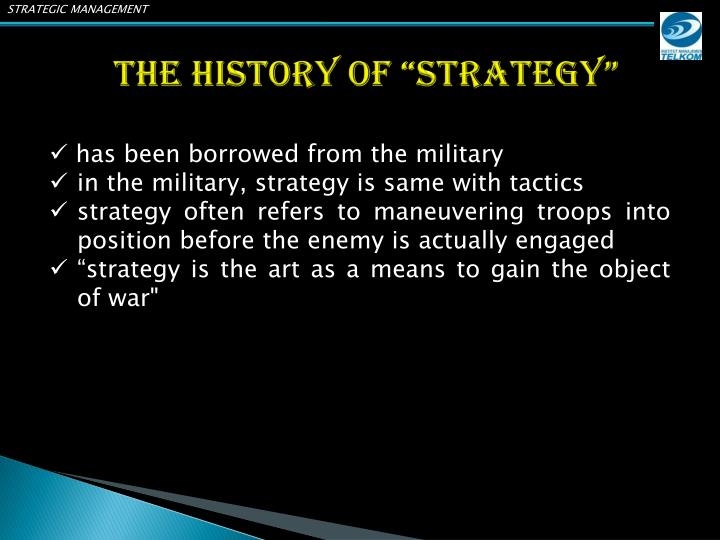 The history of strategy
