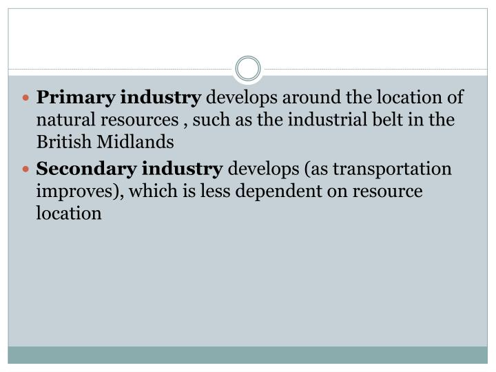Primary industry