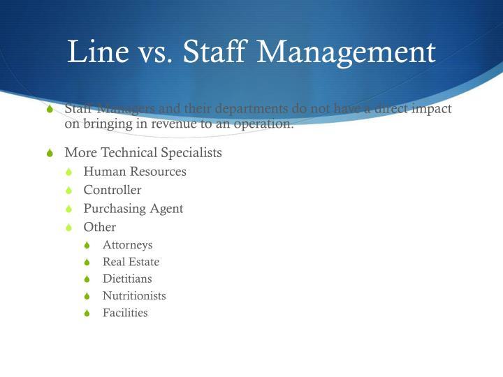 Line vs. Staff Management