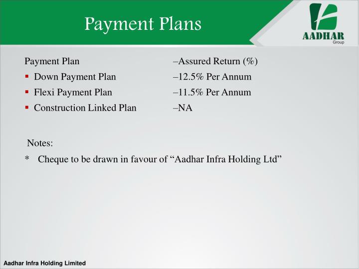 Payment Plans