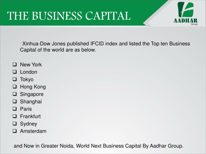 THE BUSINESS CAPITAL