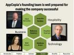 appcopia s founding team is well prepared for making the company successful