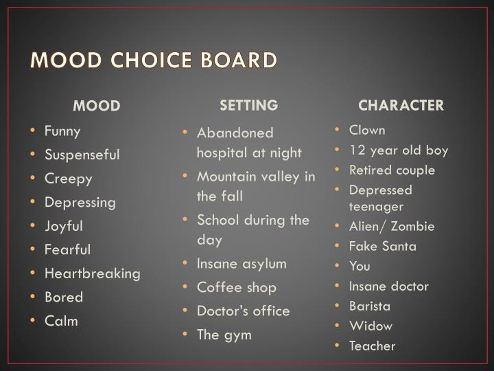 MOOD CHOICE BOARD