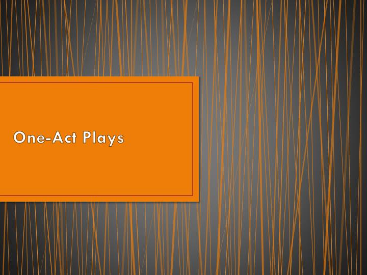 One-Act Plays