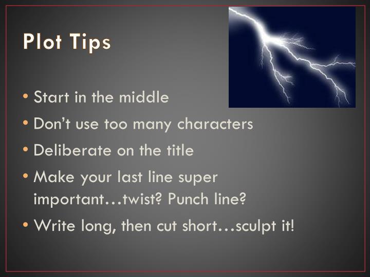 Plot Tips