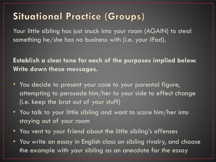 Situational Practice (Groups)