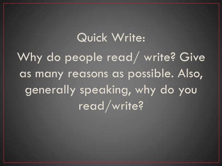 Quick Write: