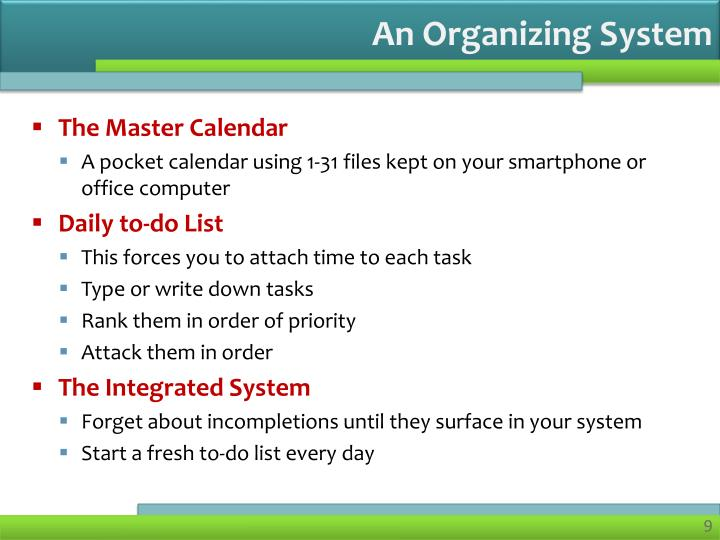 An Organizing System