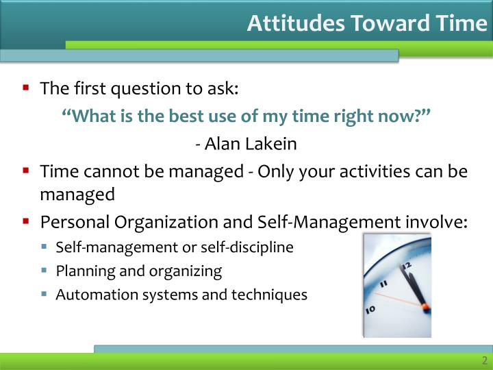 Attitudes toward time