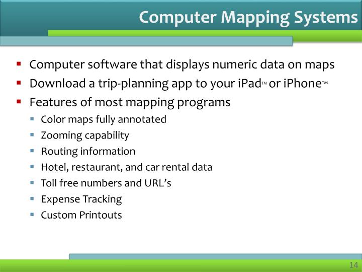 Computer Mapping Systems